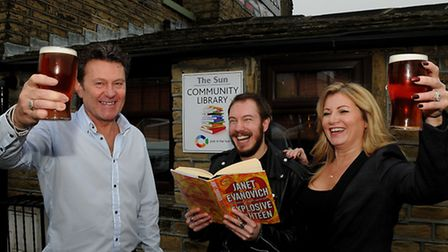 Carl and Donna Brayshaw with author Nick Stead