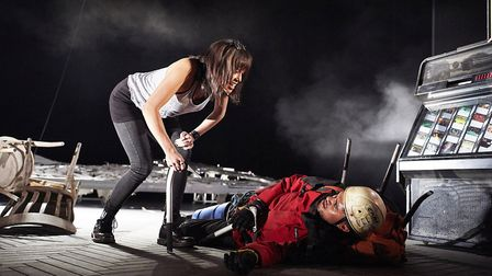 Touching The Void by David Greig, directed by Tom Morris. Bristol Old Vic Theatre. Photograph: Gerai
