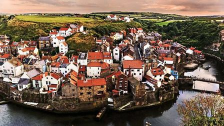 Staithes Rooftops by Keith Sayer