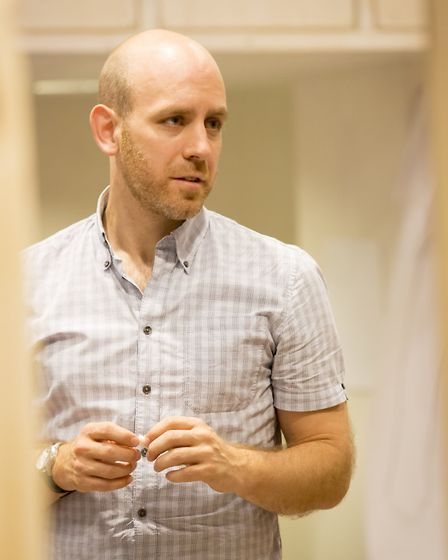 Robert Hastie in rehearsals at The Donmar Warehouse Photo Johan Persson