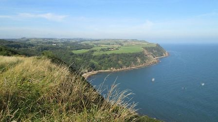 Looking towards Hayburn Wyke from The Cleveland Way coast path by Rebecca Brookes