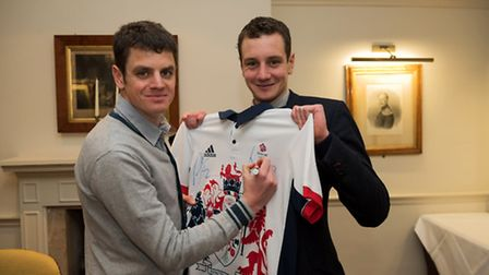 Jonny and Alistair Bownlee autograph shirts for fans