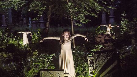 A scene from Depart by Circa whch comes to Hull General Cemetery in May Photo Tristram Kenton