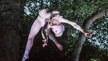 Circus artists will dance above the heads of a roaming audience Photo Tristram Kenton