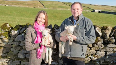 Welcome to Yorkshirechief executive Sir Gary Verity with official Tour de Yorkshire artist Lucy Pi