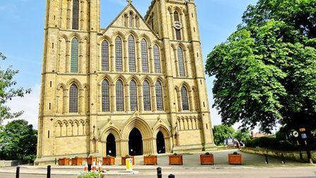 Ripon Cathedral Towering Up by Janet Danks