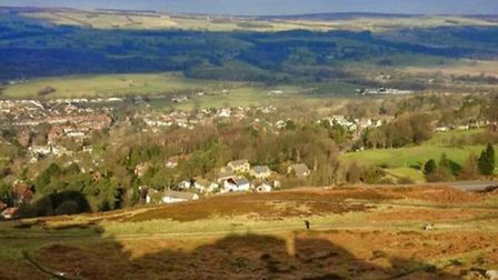 In the shadow of Cow and Calf, Ilkley by Jules Waugh