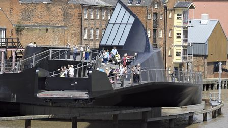 The bridge links Hull's Old Town to The Deep, the city's celebrated aquarium Photo Timothy Soar