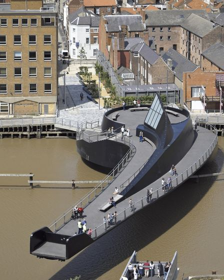 Scale Lane Bridge is the world's first bridge that allows the public to ride on it while it moves Ph