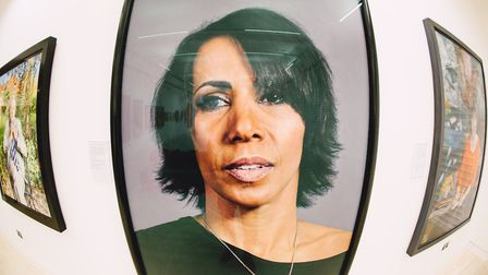 Dame Kelly Holmes is one of the famous faces featured in the exhibtion