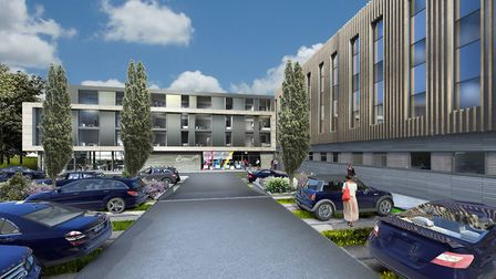 An artist impression of the aparthotel planned for the Great Yorkshire Showground site, Harrogate
