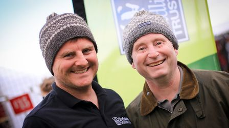 YWT director Peter Batchelor (left) joins Paul Crookes of Halifax Spinning Mill to sport this winter