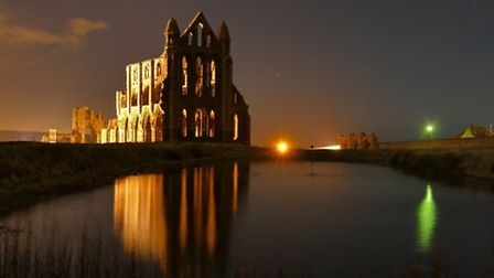 Whitby Abbey by night by Stephen Riley