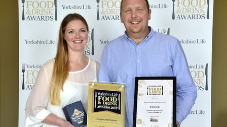 Product of the Year in association with Rural Crafts. Jennie and Adam Palmer of Yorkshire Oak Mayonn