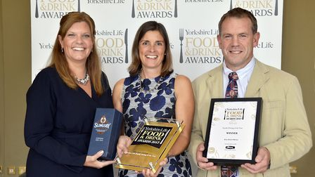 Family Dining of the Year in association with Aga. Mandy and Gary Rogers (right) from winner Billy B