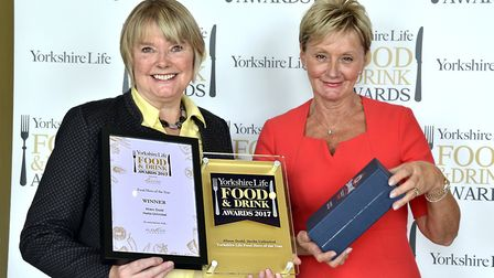 Food Hero of the Year in association with Alevere. Winner Alison Dodd of Herbs Unlimited is presente