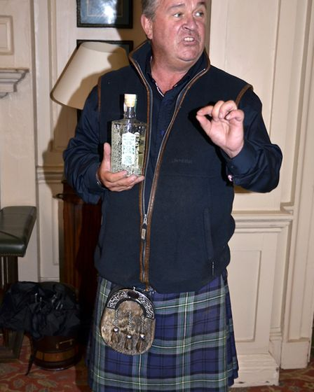 Gin specialist Jim McMillan of McMillans of Malton tells guests about the wide choice of gins made i