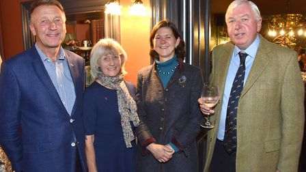 Lord Lieutenant of North Yorkshire Barry Dodd CBE and Frances Dodd, Bridget and Benoit Guerin