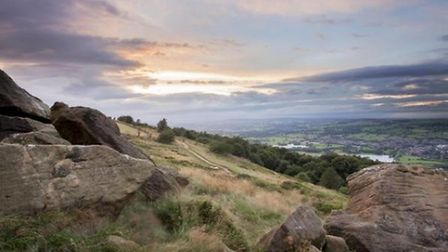 Sunset Over the Chevin by Dyfed Evans