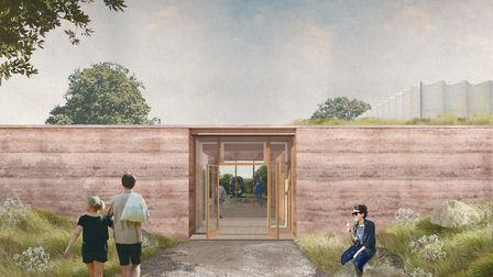 An artist impression of the new visitor centre at the park Photo courtesy YSP