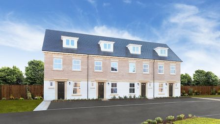 Regent Collection townhouses at St Andrew's Place, Newton Kyme c.Redrow