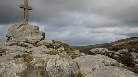 Rylstone Cross and Cracoe War Memorial in the distance by Keith Nunns