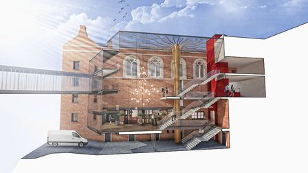 An artist's impression of the new look for Opera North