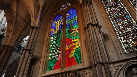 The Queen's Window by David Hockney - his first stained glass work
