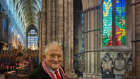 David Hockney and the Queen's Window at Westminster Abbey