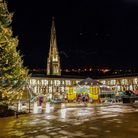 The Piece Hall lit for Christmas (c) Mark Bolton Photography