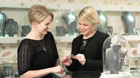 Lynsey Cooke with Lindsey Ward - The Heart of Yorkshire collection has proved so popular in the cath
