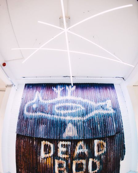 Dead Bod - graffiti from the 1960s and a symbol of the city, at the Humber Street Gallery Photo: Tho