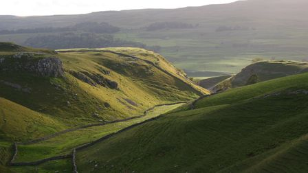 The deep valley of Conistone Dib