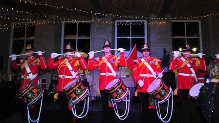 The Corps of Drums entertain guests Photo: Gerard Binks