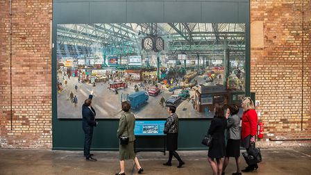 The princess viewsTerrance Cuneo's 1967 painting of Waterloo Station