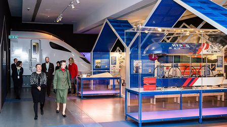 The royal visit includes the museum's wide ranging collection