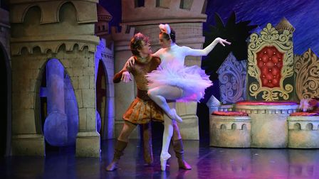 Harris Beattie and Ayca Anil in Northern Ballet's Puss in Boots Photo: Brian Slater