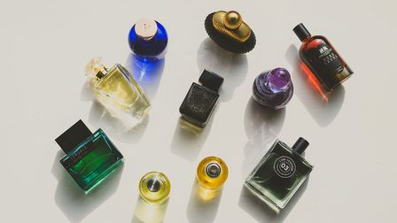 Small bottles of niche scents