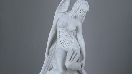Damien Hirst's Anatomy of an Angel which will be on display in the Victoria Quarter in Leeds as part