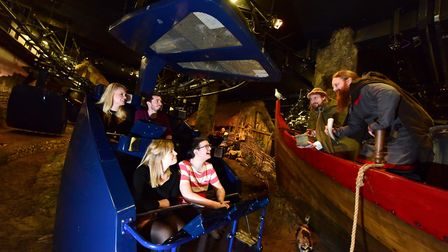 Experience the recreated Coppergate on the JORVIK ride experience