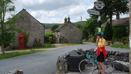 Yorkshire Dales CW Cyclists heading along Wharfedale