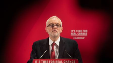Labour Party leader Jeremy Corbyn at the launch of the Labour race and faith manifesto at the Bernie