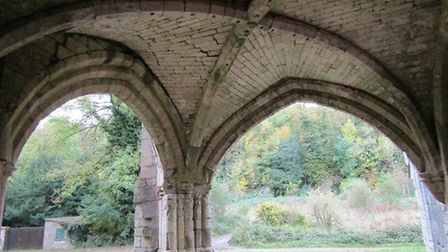 Archways into the gardens at Roche Abbey by Diane Reed