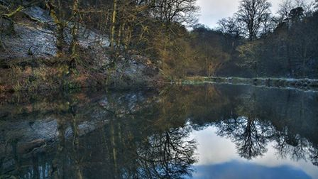 Pond at Hardcastle Crags by Harry Feather