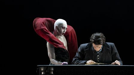 Riku Ito as Old Dracula and Lorenzo Trossello as Harker (4) - photo Emma Kauldhar