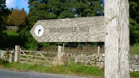 Nidderdale Way sign by Terry Fletcher