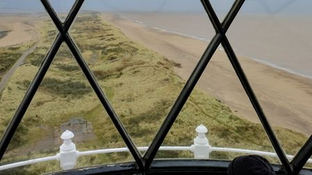 The view from the top of Spurn Lighthouse.
