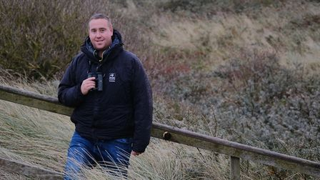 Adam Stoyle of Yorkshire Wildlife Trust who will be leading the bespoke birding tours at Spurn Point