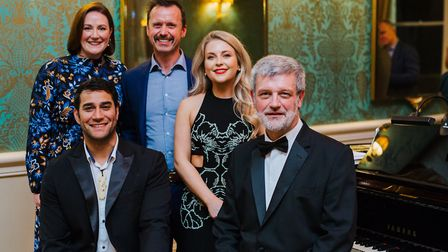 Catherine Sherwood, Andrew Brook-Dobson and Alexandra Oomens with (front) Phillip Rhodes and Martin