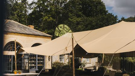 Middleton Lodge's covered courtyard